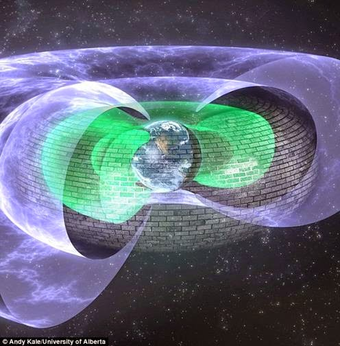 The shield was discovered in the Van Allen radiation belts two d 2