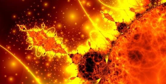 tempesta solare a frattali