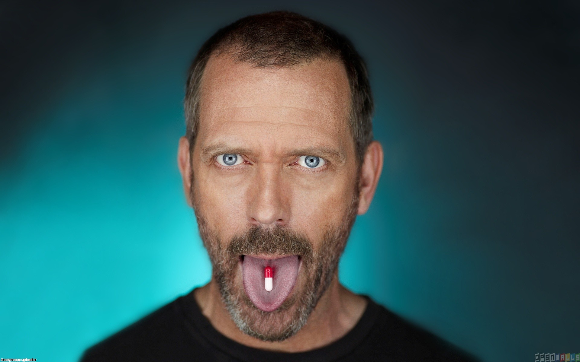 hugh laurie dr house taking pill