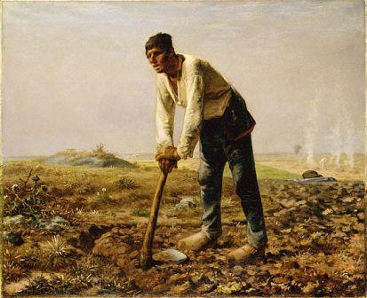 Jean-François Millet – Uomo con la zappa (1860)