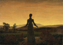 Caspar David Friedrich - Donna al tramonto del sole