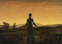 Caspar David Friedrich - Donna al tramonto del sole