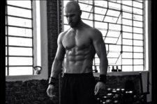 Il bodybuilder Massimo Brunaccioni