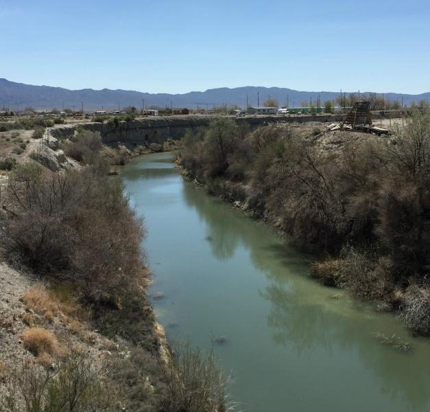 Il fiume Humboldt vicino Lovelock, Nevada, dove si dice vivessero i Sitecah.