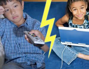 Bombardamento mediatico nei confronti dei bambini