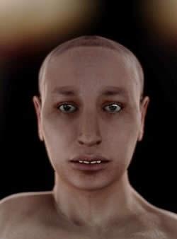 Ricostruzione del volto di Tutankhamon