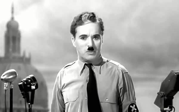 "Charlie Chaplin ne ""Il Grande dittatore"""