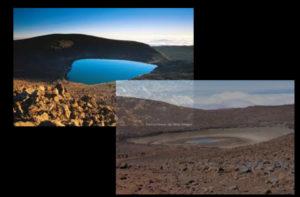 lago montagna prosciugato