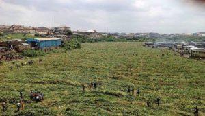 river turns dry nigeria africa ogun river