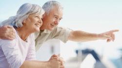 coppia di anziani scposati