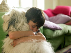 Bambino col suo cane
