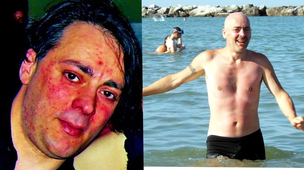 Massimiliano Brandi nel 2008 e nel 2016