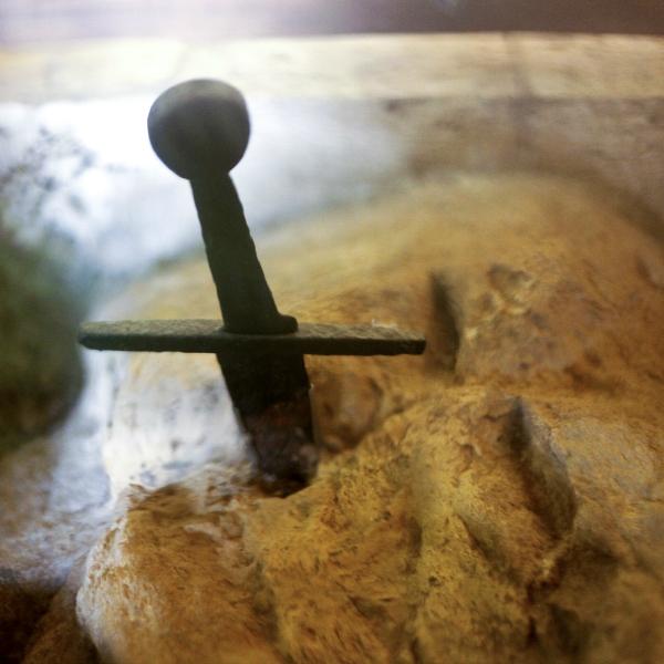 La spada nella roccia nell'Eremo di Montesiepi [Photo Credits: Fabio Gismondi]