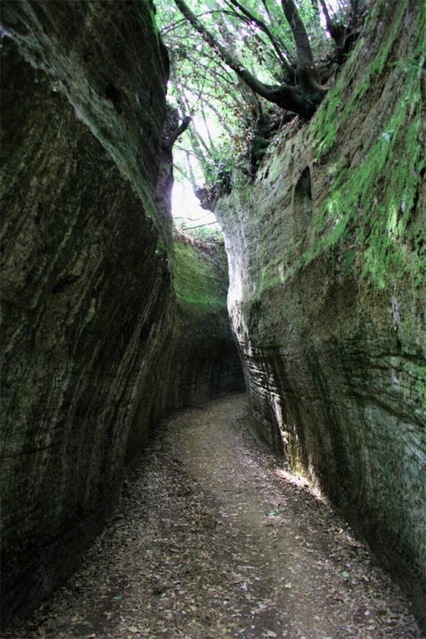 Un tratto delle Vie Cave a Sovana [Photo Credits: Monica Boattini]