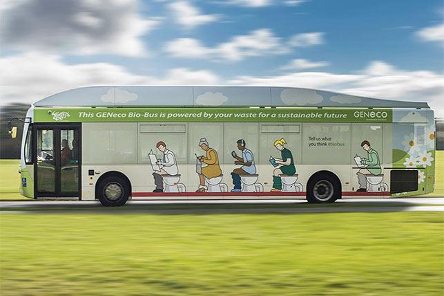 Ecco il BIO BUS: l'autobus che va a Escrementi Umani!