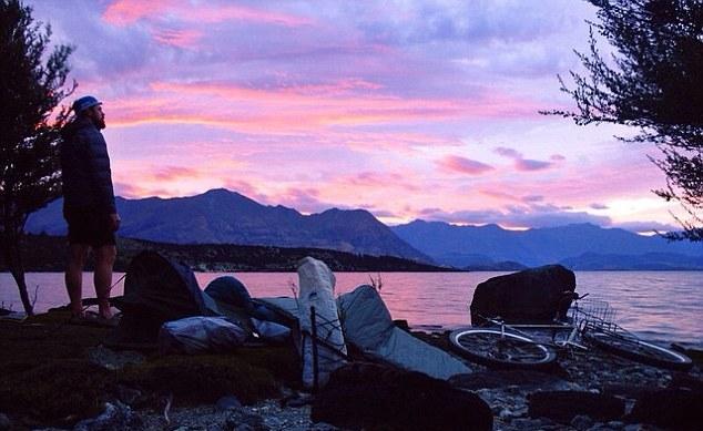 benedict bicicletta lago sera