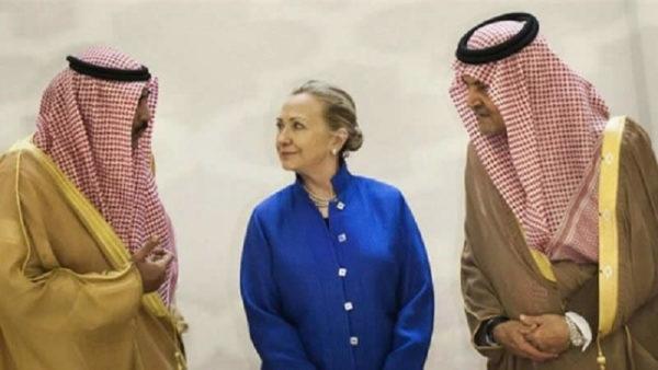 HIllary Clinton con i sauditi