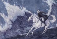 Cavaliere con cavallo bianco
