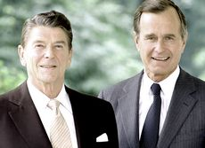 Presidente Reagan insieme al Vice Presidente Bush - 7/16/1981