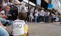 Protesta anti vaccini a Forlì