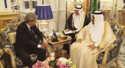 Gentiloni con leader arabi