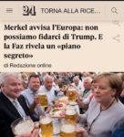 È la fine... la Merkel ha un piano segreto per l'Europa