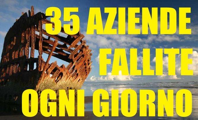 DAL 1° GENNAIO AL 30 GIUGNO 2017 SONO FALLITE IN ITALIA 6.188 IMPRESE: 35 AL GIORNO. UNA CATASTROFE SENZA FINE.