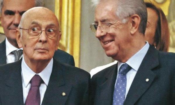 Giorgio Napolitano e Mario Monti