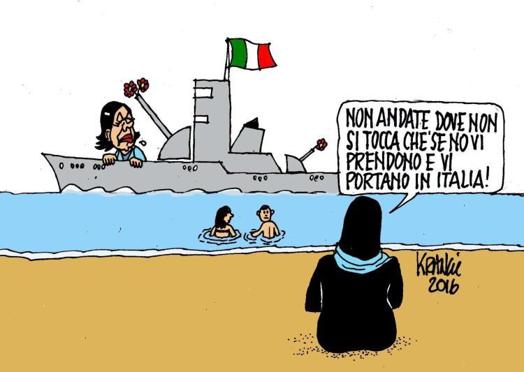 La vignetta di Krancic citata dalla professoressa Bono