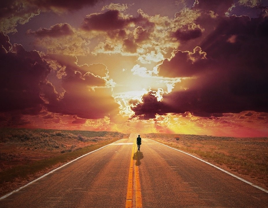 Man Sunset Road - Free photo on Pixabay