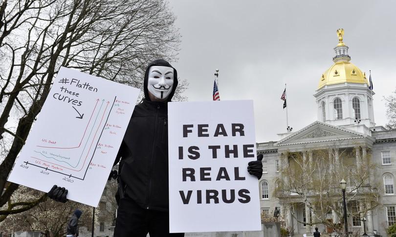 Negli Usa è scoppiata una protesta contro il lockdown