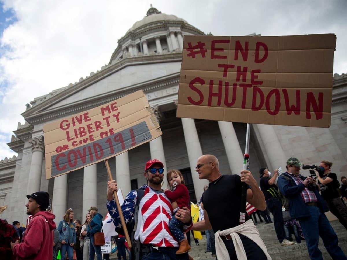USA, manifestazioni anti-lockdown o anti democratici?