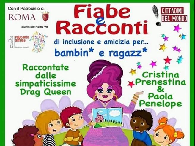 Roma Quadraro, drag queen a scuola a leggere fiabe ai bambini: è polemica - Corriere.it