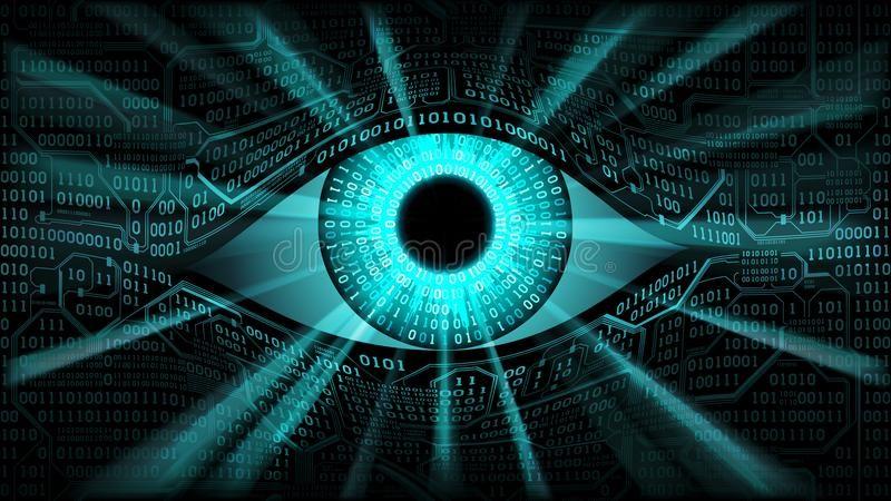 Concetto Elettronico Dell'occhio Del Fratello Maggiore, Tecnologie Per La Sorveglianza Globale, Sicurezza Dei Sistemi Informatici Illustrazione Vettoriale - Illustrazione di cyberspace, strati: 101577361