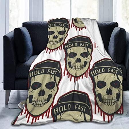 """Reset 523 Skull Pattern 50""""x40""""Coperta in Pile Super Soft Grande e Comodo Divano Letto Flanella di tiro: Amazon.it: Casa e cucina"""