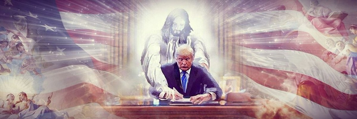 "Deplorable Frank on Twitter: ""My new banner I found on Twitter....Thank You to whomever made this!! Jesus is with President Trump!… """