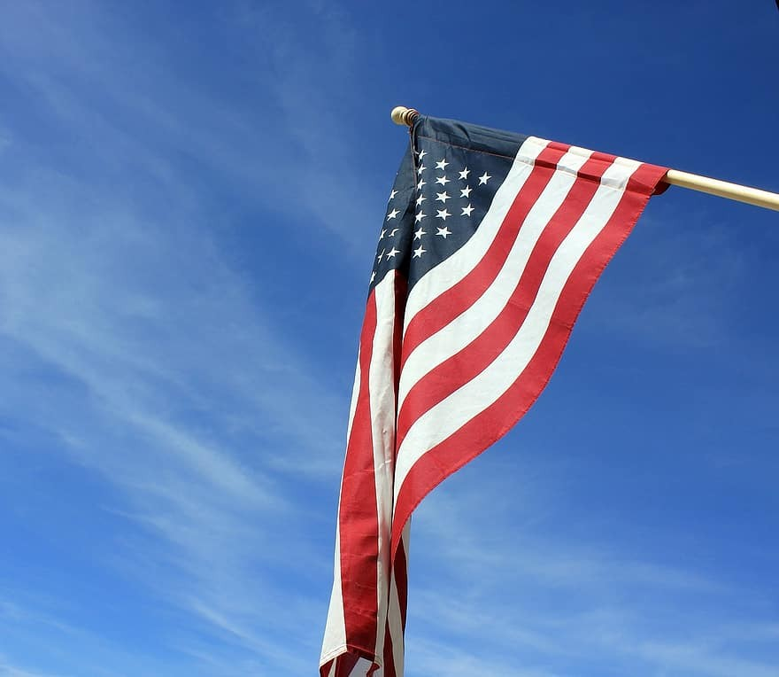 americano, bandiera, bandiera americana, Stati Uniti d'America, patriottico, bandiera americana agitando, rosso, bianca, blu, patriota, noi bandiera   Pikist