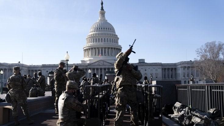 Risultato immagini per washington dc militarizzata