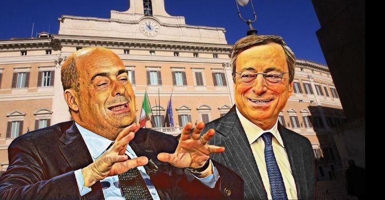 Risultato immagini per grande ammucchiata governo Draghi
